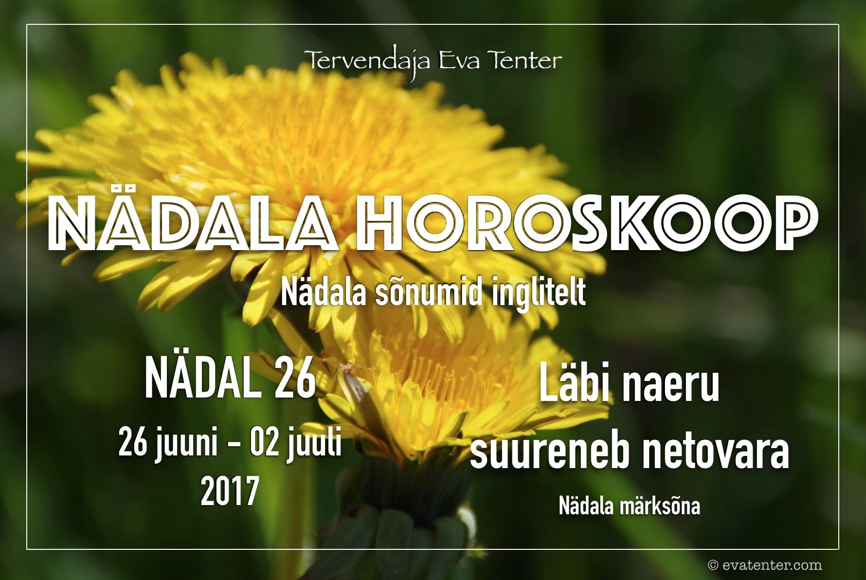 Nädala horoskoop