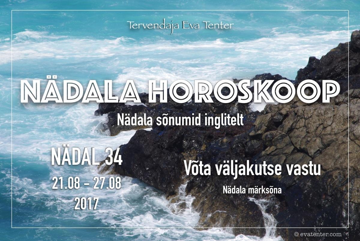 Nädala horoskoop 21.08-27.08.2017