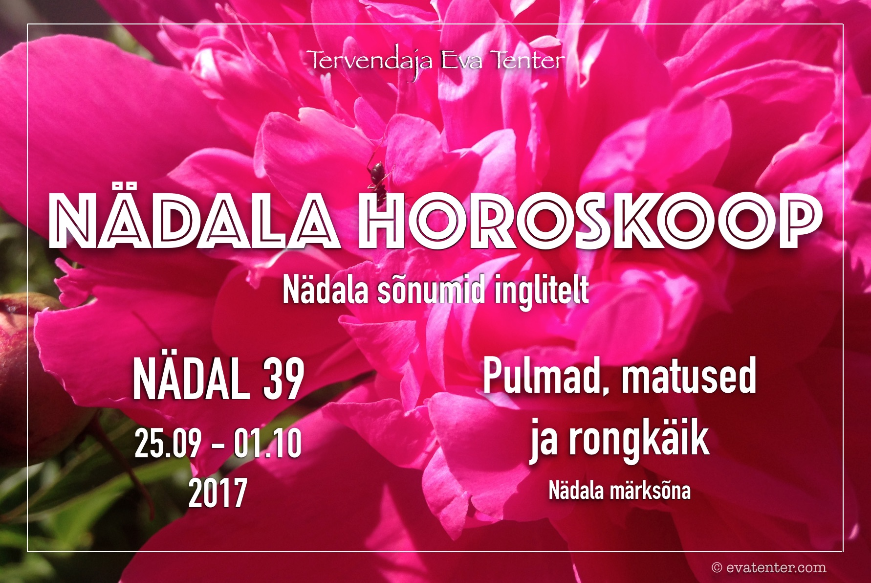 Nädala horoskoop 25.09-01.10.2017