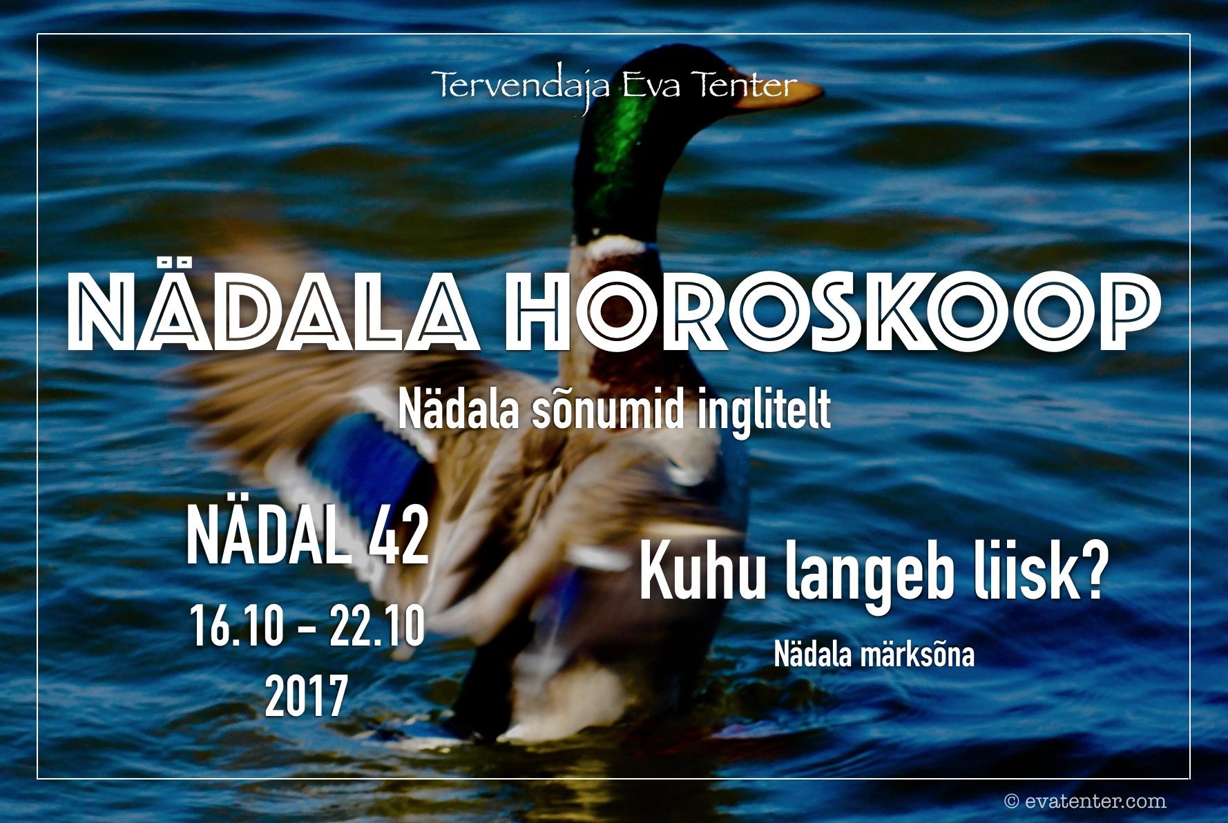 Nädala horoskoop 16.10-22.10.2017