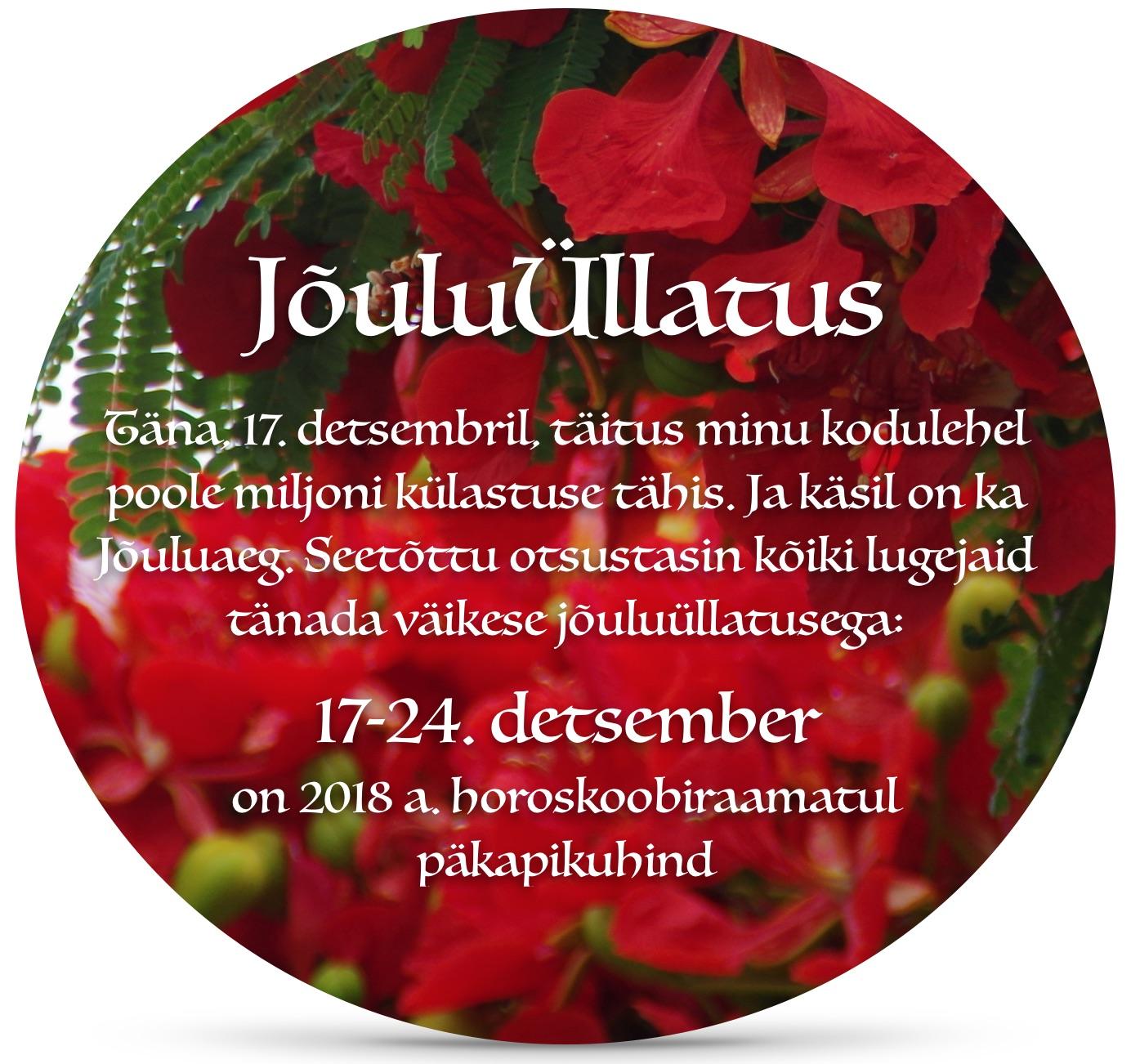 JõuluÜllatus – 17-24. detsember tervitab teid päkapikuhind