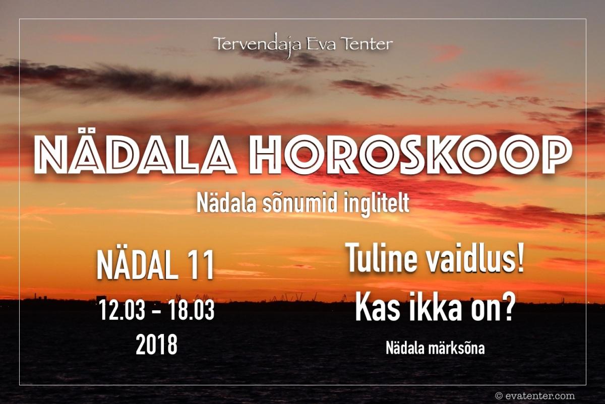 Nädala horoskoop 12.03-18.03.2018
