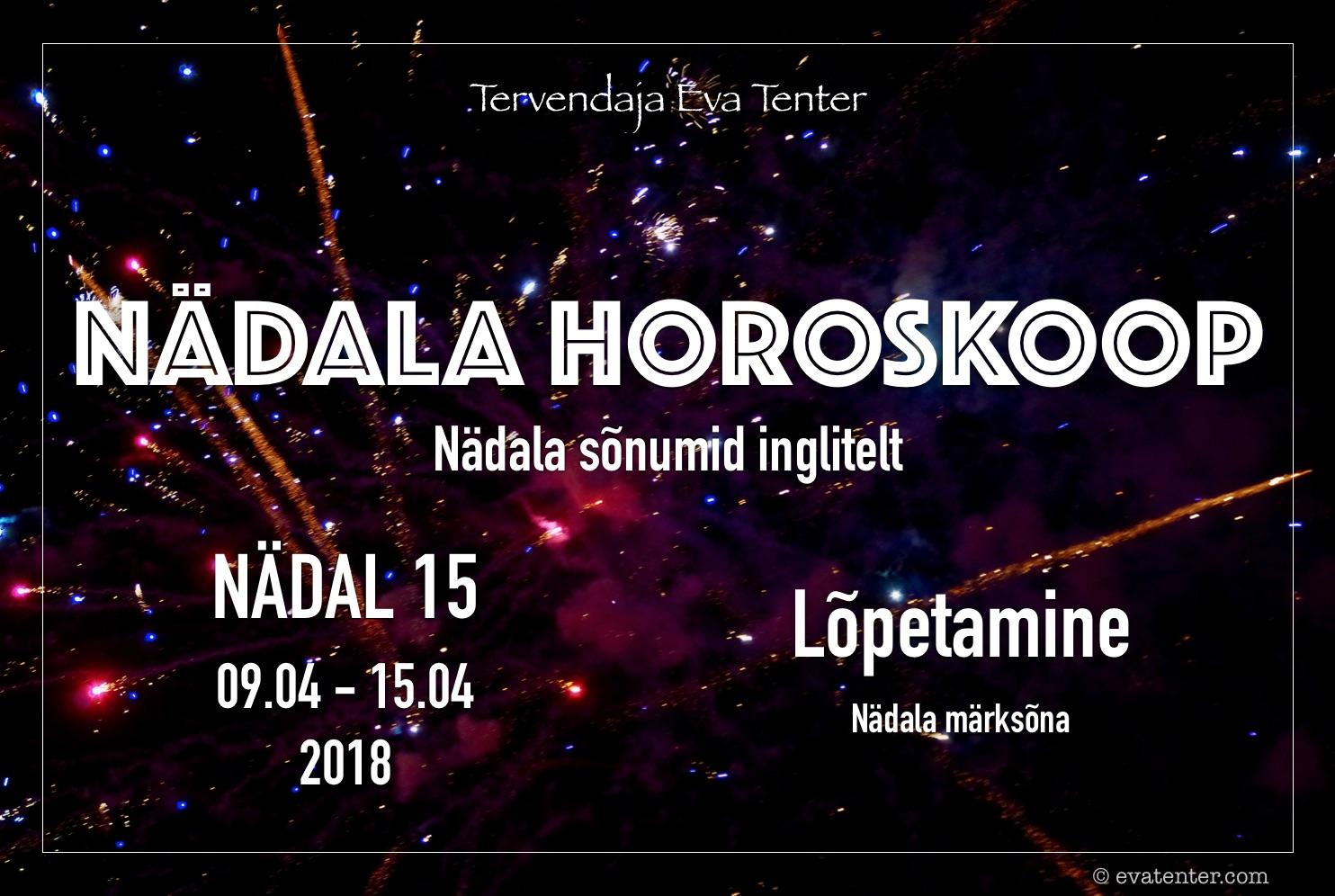 Nädala horoskoop 09.04-15.04.2018