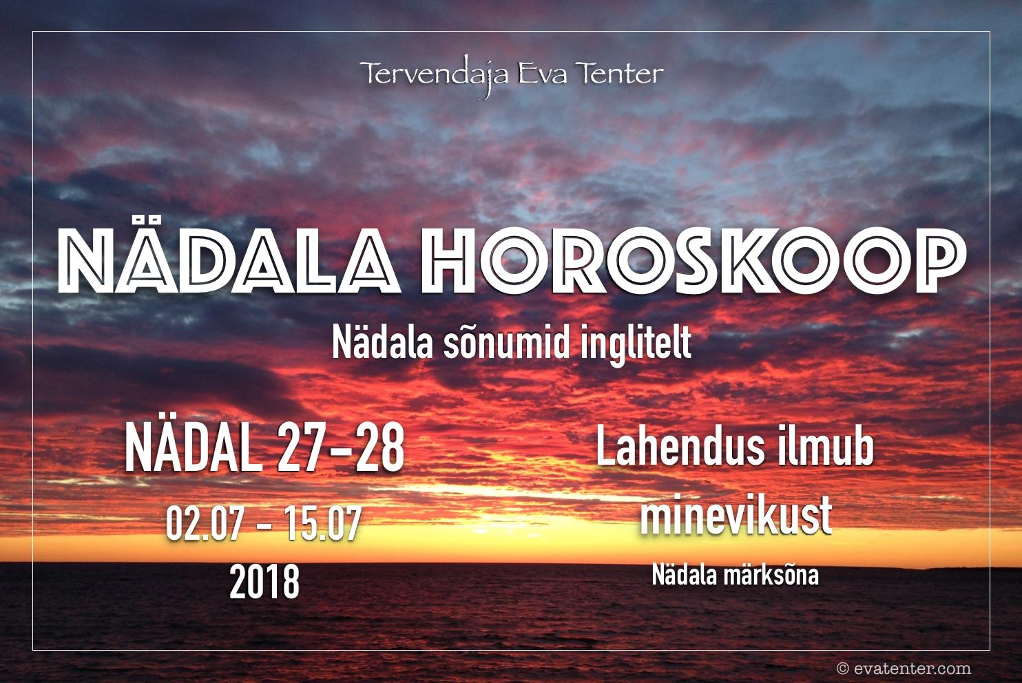 Nädala horoskoop 02.07-15.07.2018