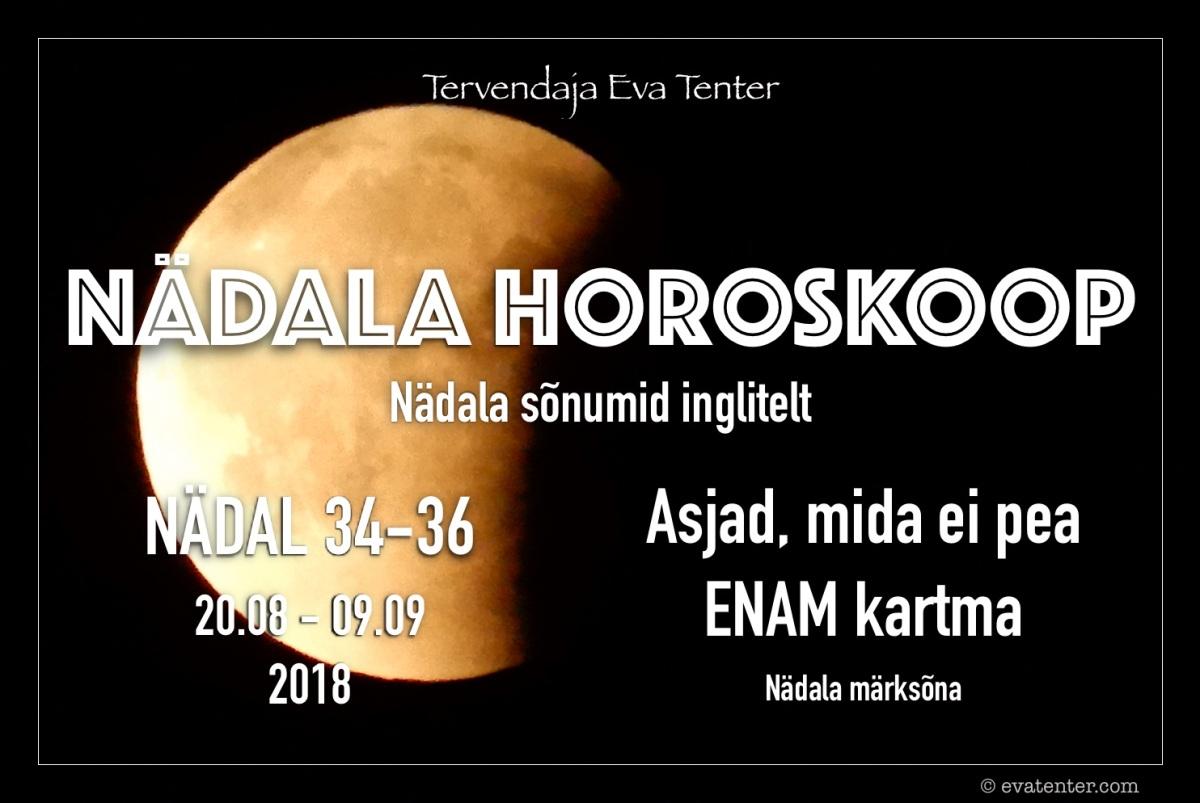 Nädala horoskoop 20.08-09.09.2018