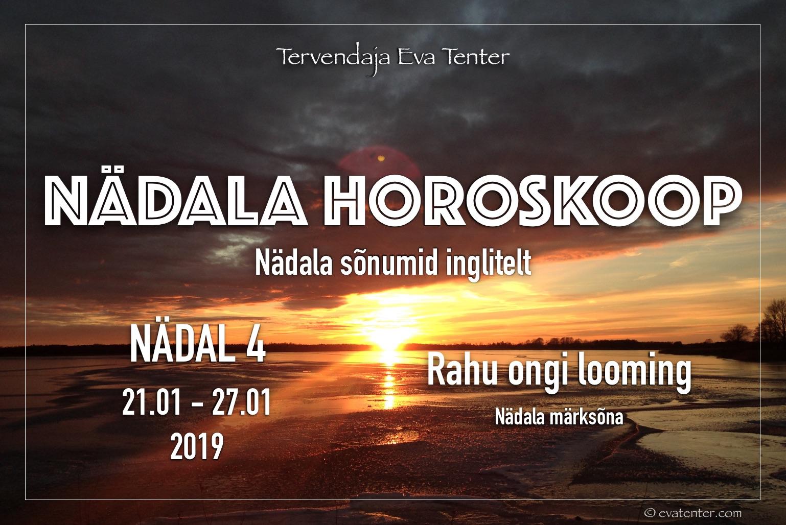 Nädala horoskoop 21.01-27.01.2019